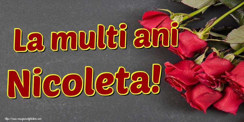 Felicitari aniversare De Sfantul Nicolae - La multi ani Nicoleta!