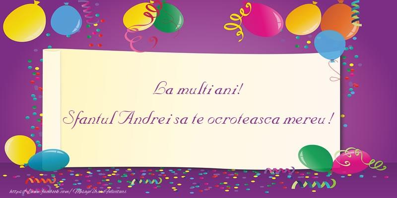 Felicitari aniversare De Sfantul Andrei - La multi ani! Sfantul Andrei sa te ocroteasca mereu!