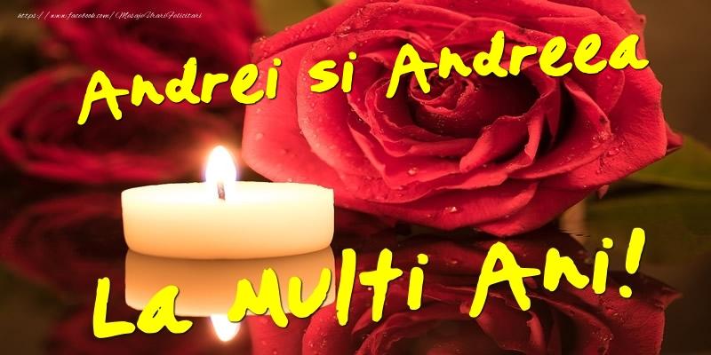 Felicitari aniversare De Sfantul Andrei - Andrei si Andreea  - La multi ani!