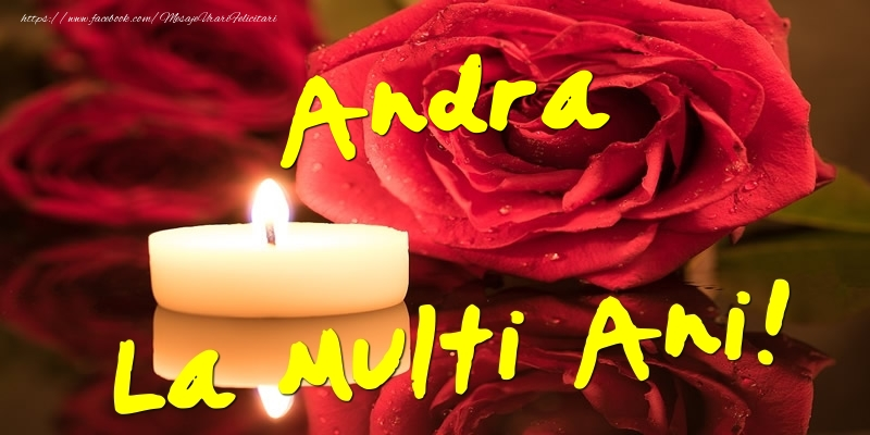 Felicitari aniversare De Sfantul Andrei - Andra La Multi Ani!