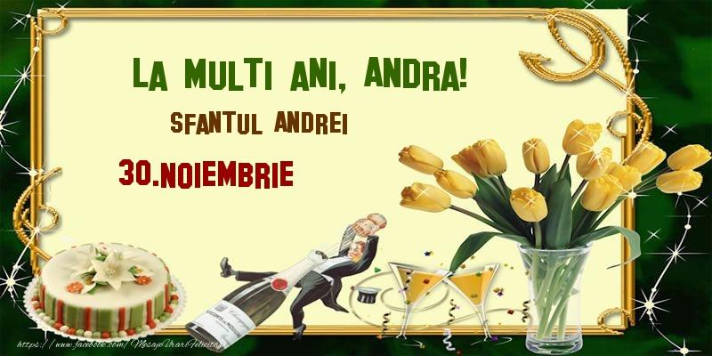 Felicitari aniversare De Sfantul Andrei - La multi ani, Andra! Sfantul Andrei - 30.Noiembrie