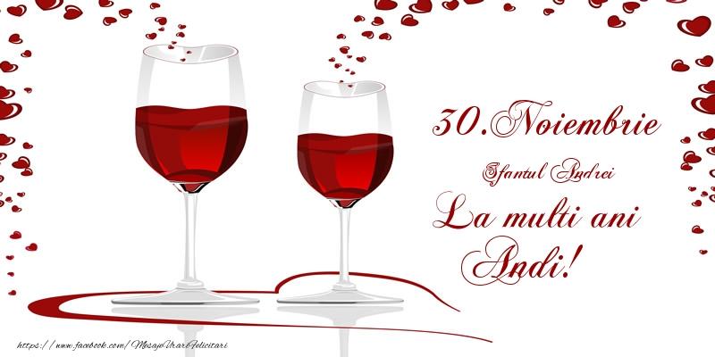 Felicitari aniversare De Sfantul Andrei - 30.Noiembrie La multi ani Andi!