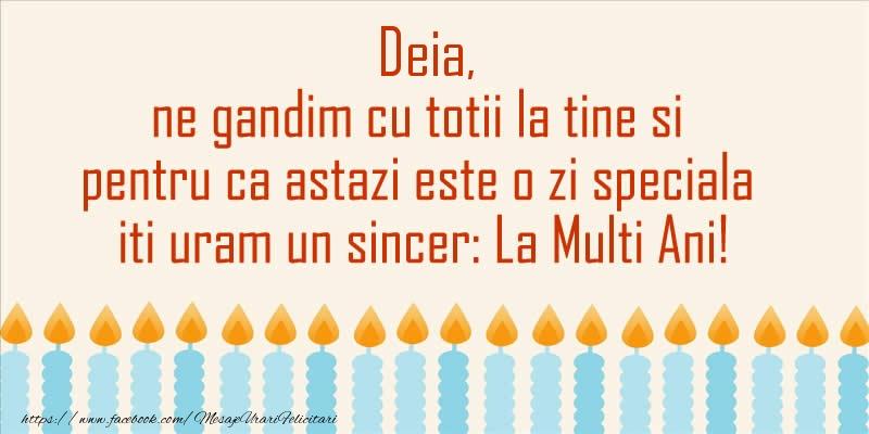 Felicitari aniversare De Sfantul Andrei - Deia, ne gandim cu totii la tine si pentru ca astazi este o zi speciala iti uram un sincer La Multi Ani!