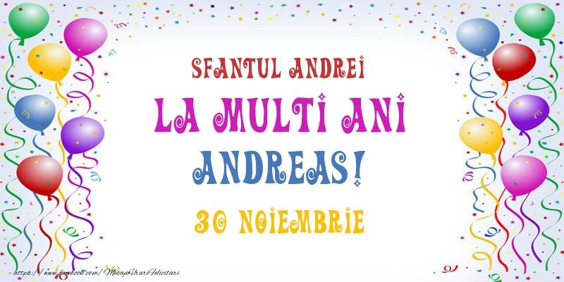 Felicitari aniversare De Sfantul Andrei - La multi ani Andreas! 30 Noiembrie