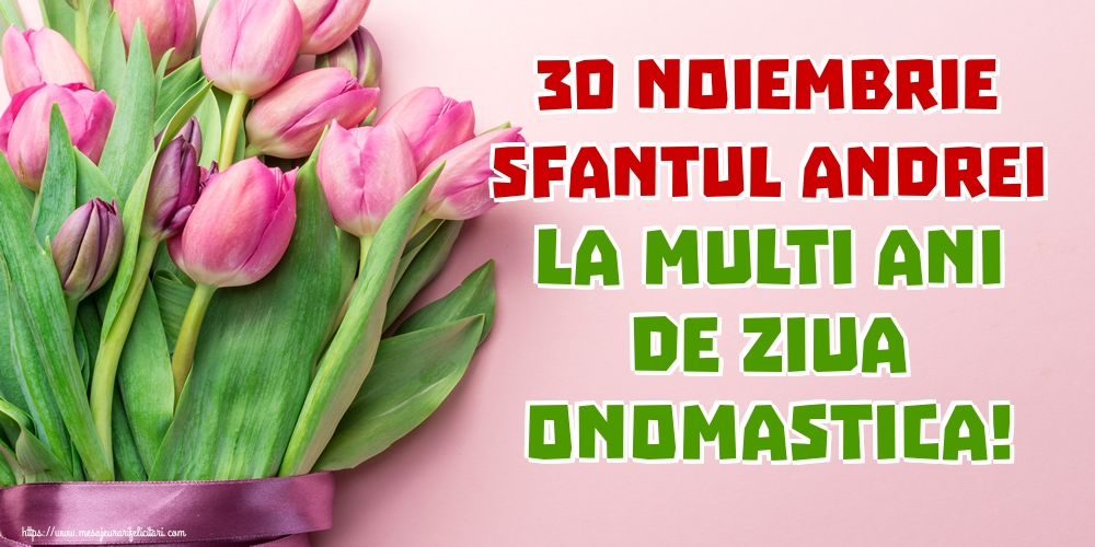 Felicitari aniversare De Sfantul Andrei - 30 Noiembrie Sfantul Andrei La multi ani de ziua onomastica!