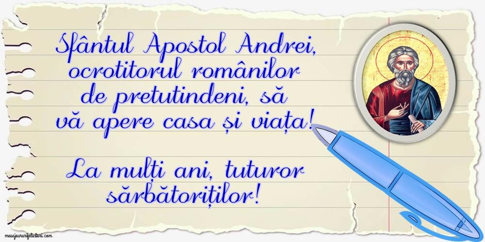 Felicitari aniversare De Sfantul Andrei - La mulți ani, tuturor sărbătoriților!