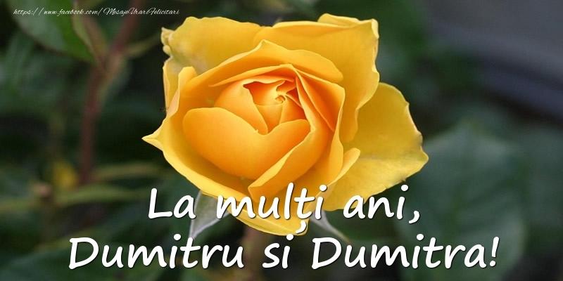 Felicitari aniversare De Sfantul Dumitru - La multi ani, Dumitru si Dumitra!