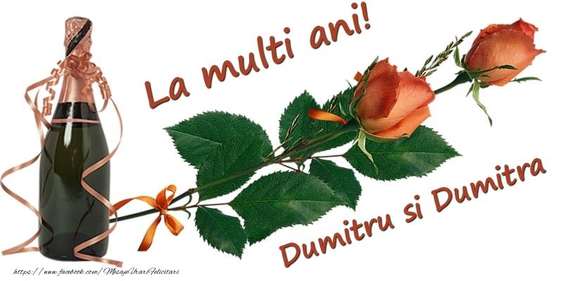 Felicitari aniversare De Sfantul Dumitru - La multi ani! Dumitru si Dumitra