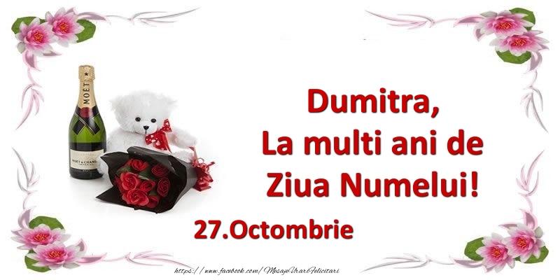 Felicitari aniversare De Sfantul Dumitru - Dumitra, la multi ani de ziua numelui! 27.Octombrie
