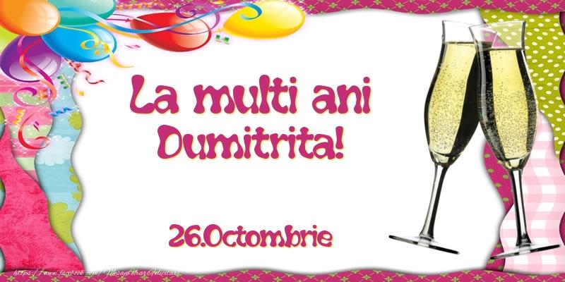 Felicitari aniversare De Sfantul Dumitru - La multi ani, Dumitrita!  - 26.Octombrie