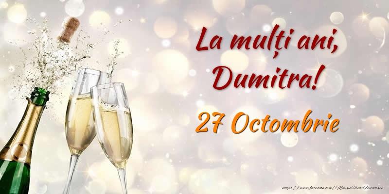 Felicitari aniversare De Sfantul Dumitru - La multi ani, Dumitra! 27 Octombrie