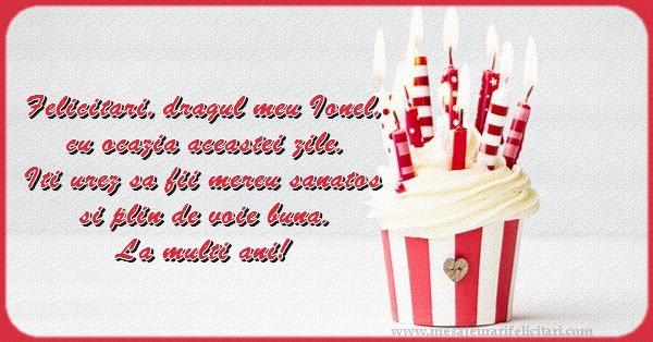 Felicitari aniversare De Sfantul Ioan - La multi ani, Ionel!