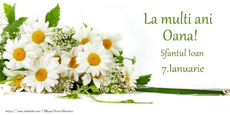 Felicitari aniversare De Sfantul Ioan - La multi ani, Oana! 7.Ianuarie - Sfantul Ioan