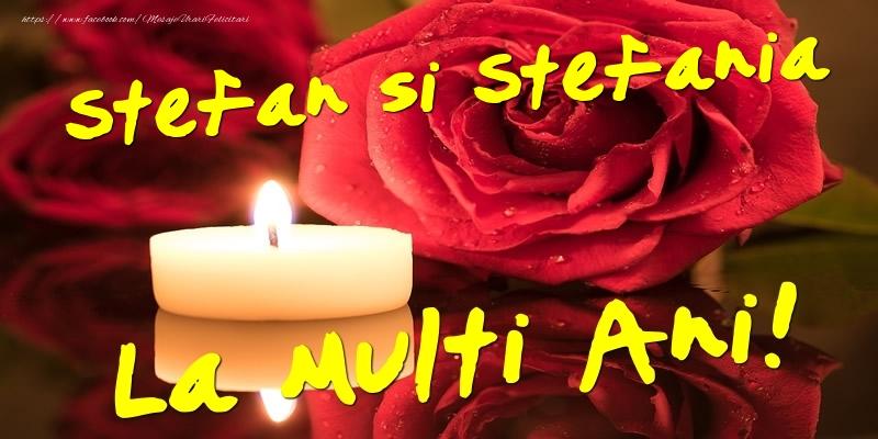 Felicitari aniversare De Sfantul Stefan - Stefan si Stefania  - La multi ani!