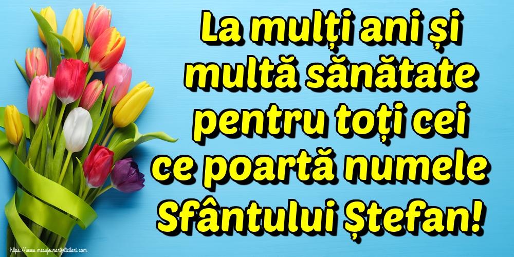 Felicitari aniversare De Sfantul Stefan - La mulți ani și multă sănătate pentru toți cei ce poartă numele Sfântului Ștefan!