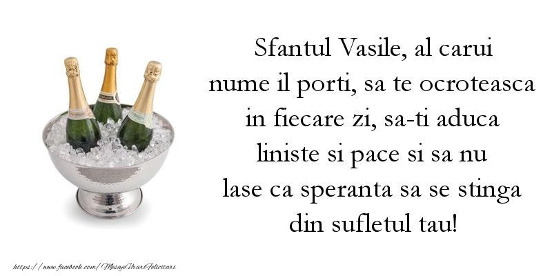 Felicitari aniversare De Sfantul Vasile - Sfantul Vasile, al carui nume il porti, sa te ocroteasca in fiecare zi