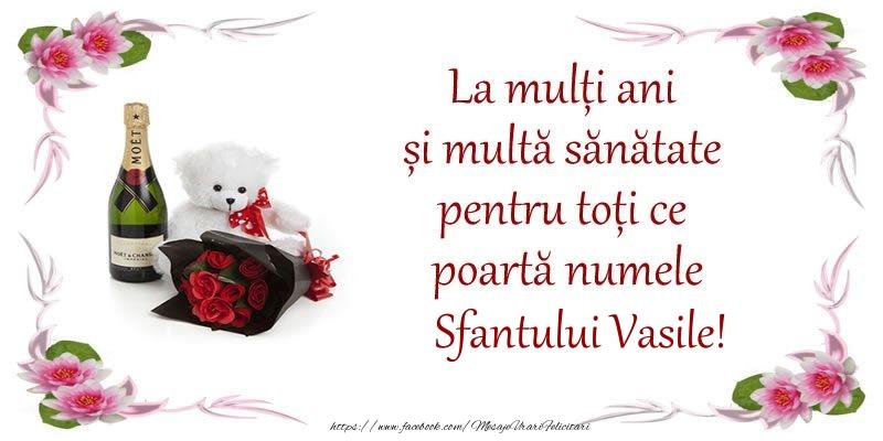 Felicitari aniversare De Sfantul Vasile - La multi ani si multa sanatate pentru toti ce poarta numele Sfantului Vasile!