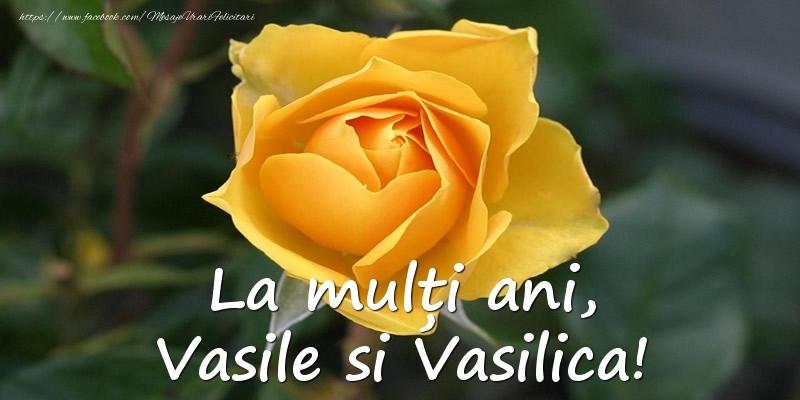 Felicitari aniversare De Sfantul Vasile - La multi ani, Vasile si Vasilica!