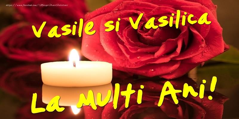 Felicitari aniversare De Sfantul Vasile - Vasile si Vasilica  - La multi ani!