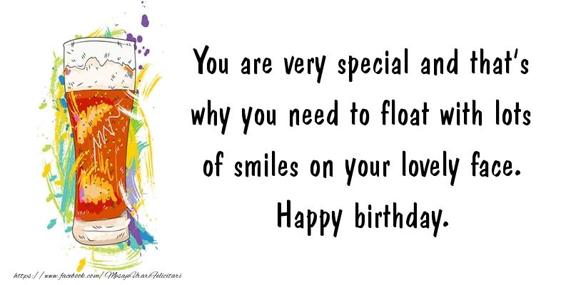 Felicitari Aniversare in limba Engleza - You are very special ... Happy birthday