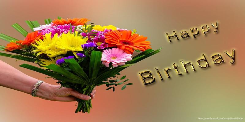 Felicitari Aniversare in limba Engleza - Happy Birthday Flowers