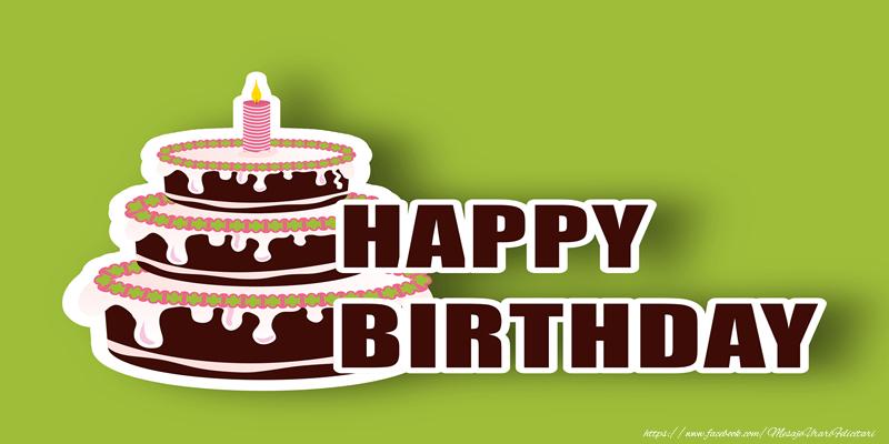 Felicitari Aniversare in limba Engleza - Happy Birthday Cake
