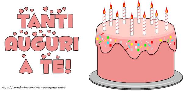 Felicitari Aniversare in limba Italiana - Torta Tanti auguri a te!