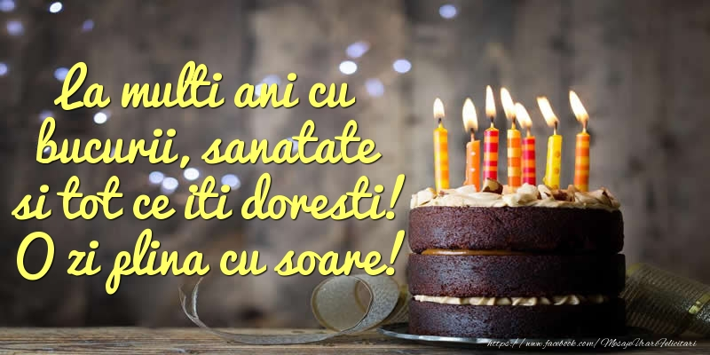 Felicitari aniversare De Zi De Nastere - La multi ani