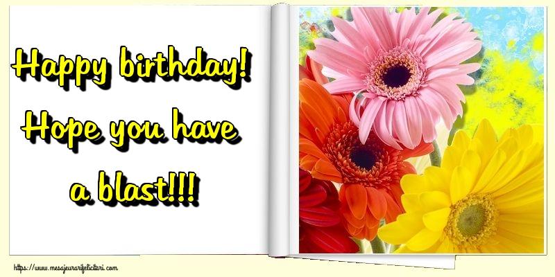 Felicitari Aniversare in limba Engleza - Happy birthday! Hope you have a blast!!!