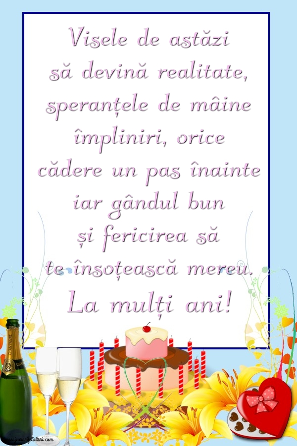 Felicitari aniversare De Zi De Nastere - La mulți ani!