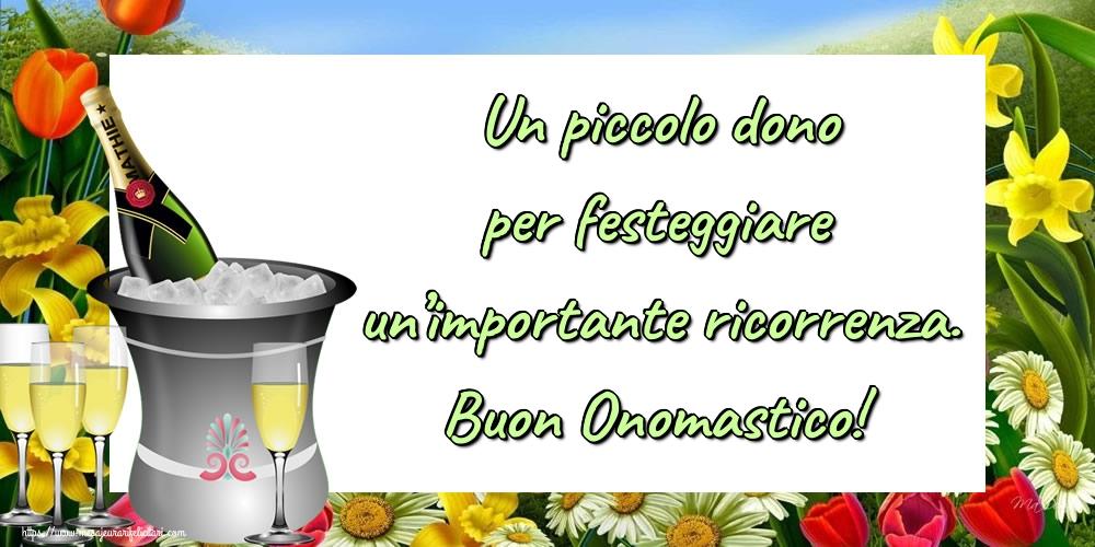 Felicitari Aniversare in limba Italiana - Un piccolo dono per festeggiare un'importante ricorrenza. Buon Onomastico!