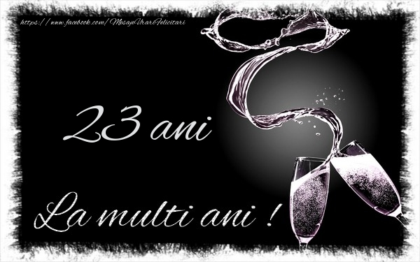 23 ani La multi ani