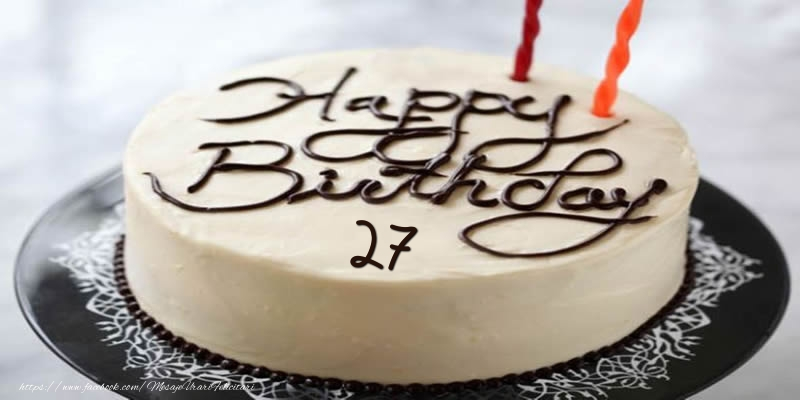 Happy Birthday 27 ani