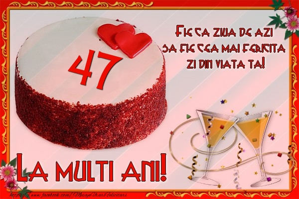 47 ani Fie ca ziua de azi sa fie cea mai fericita  zi din viata ta!