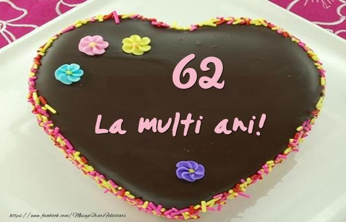 62 ani La multi ani! Tort