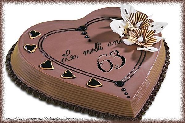 La multi ani cu tort 63 ani
