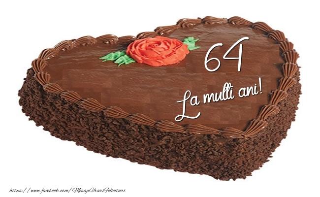 Tort in forma de inima: La multi ani 64 ani!