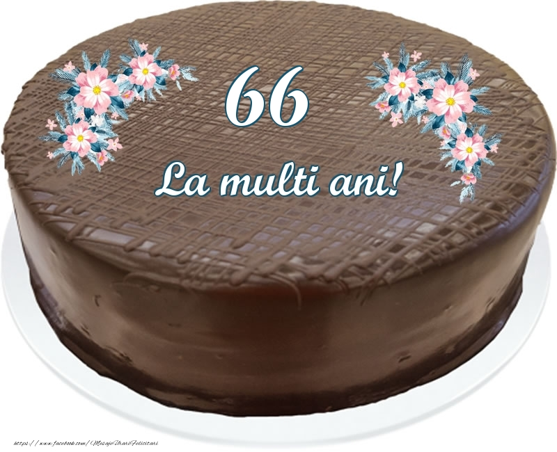 66 ani La multi ani! - Tort
