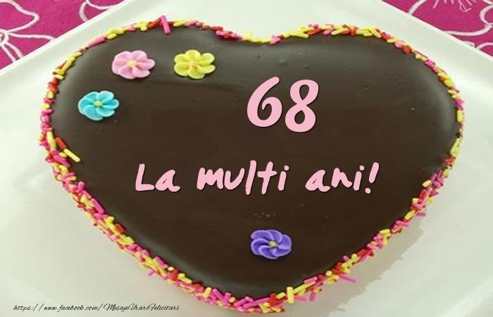 68 ani La multi ani! Tort