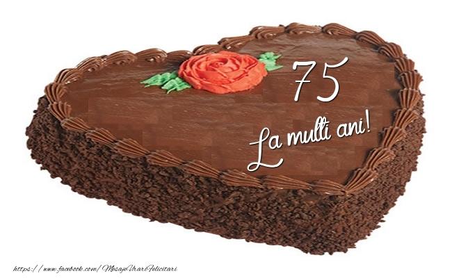 Tort in forma de inima: La multi ani 75 ani!