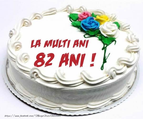 82 ani La multi ani! - Tort