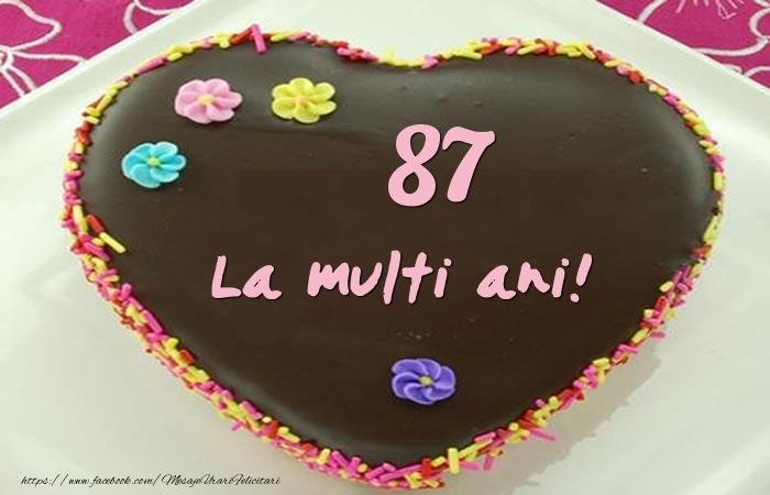 87 ani La multi ani! Tort