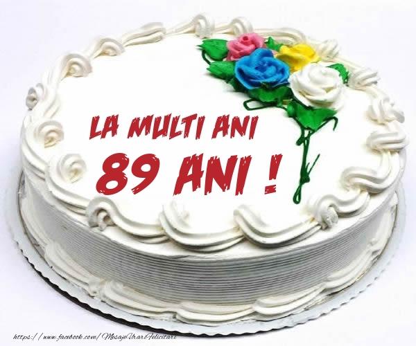 89 ani La multi ani! - Tort
